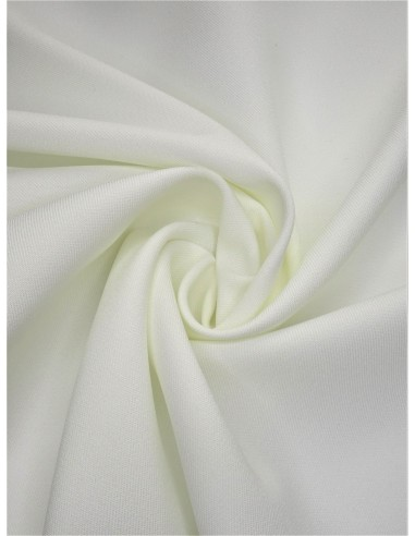 Gabardine polyester - Blanc cassé