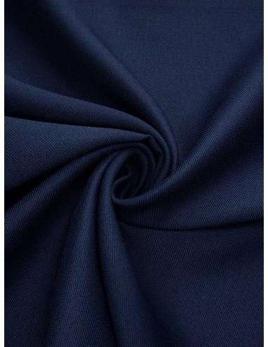 Tissu gabardine polyester - Marine clair