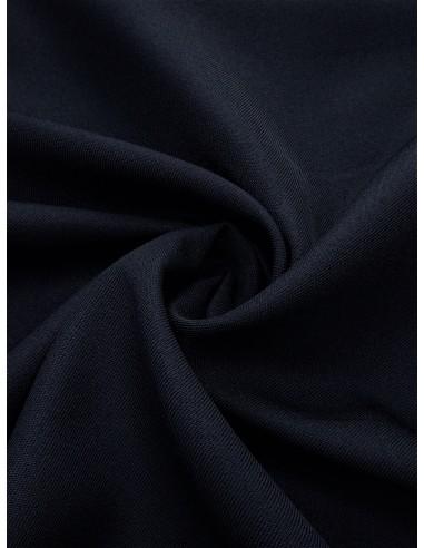 Tissu gabardine polyester - Marine foncé