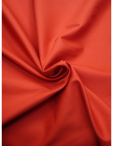 Tissu satin de coton - Terra cotta