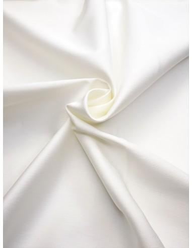Tissu satin de coton - Blanc cassé
