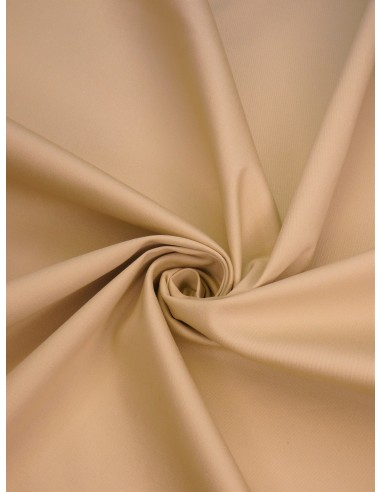 Tissu satin de coton - Beige clair