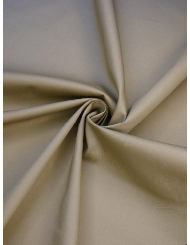 Tissu satin de coton - Beige