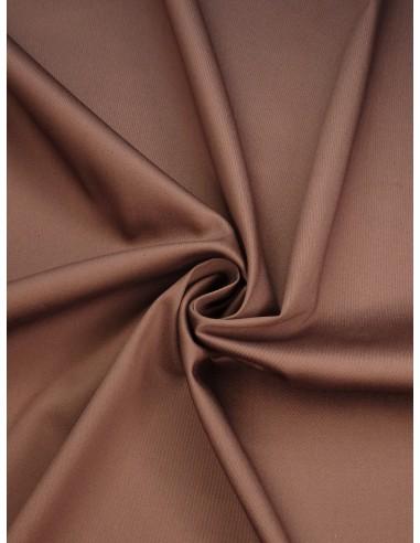 Tissu satin de coton - Marron glacé