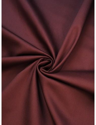Tissu satin de coton - Marron bordeaux