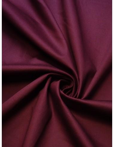 Tissu satin de coton - Bordeaux