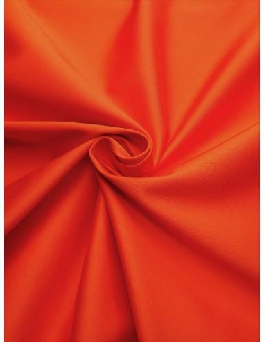Tissu satin de coton - Orange