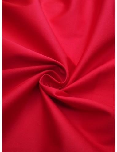 Tissu satin de coton - Rouge