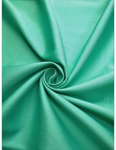 Tissu satin de coton - Vert clair