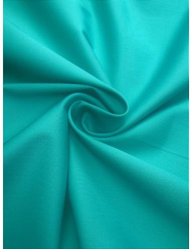 Tissu satin de coton - Vert turquoise