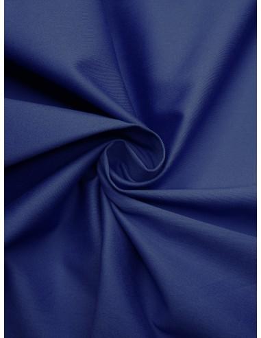 Tissu satin de coton - Bleu roi