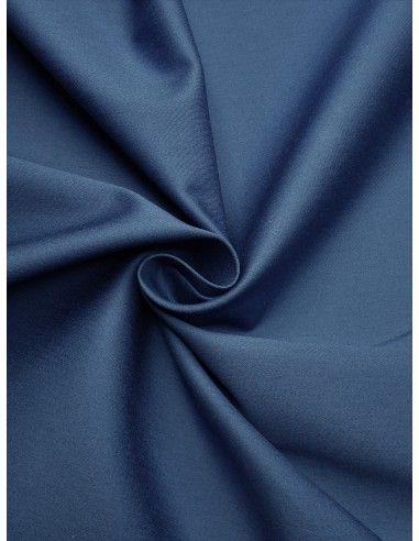 Tissu satin de coton - Bleu pétrole