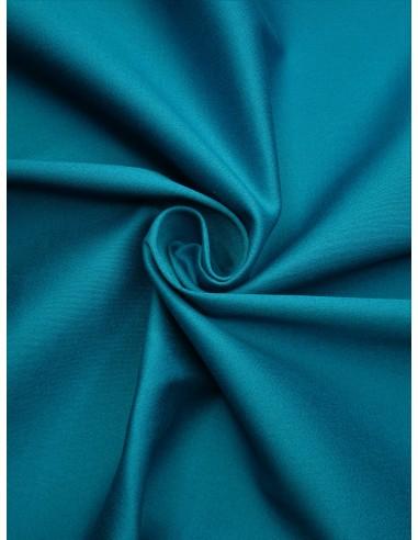 Tissu satin de coton - Bleu canard