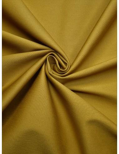 Tissu satin de coton - Moutarde