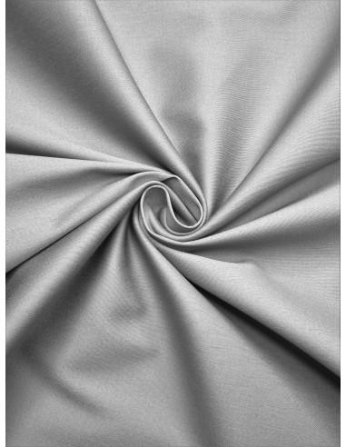 Tissu satin de coton - Gris