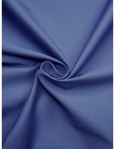 Tissu satin de coton - Bleu