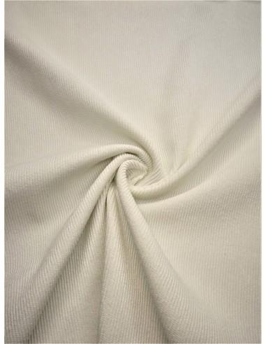 Tissu velours milleraie - Blanc cassé