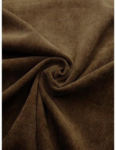 Tissu velours milleraie - Marron