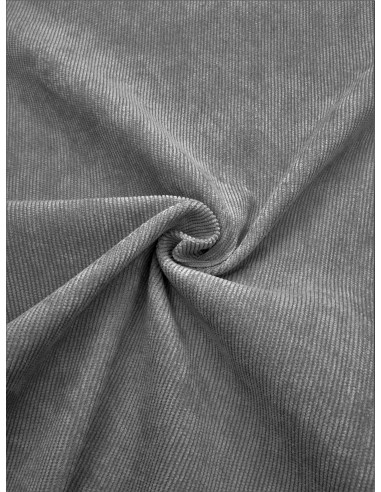 Tissu velours milleraie - Gris clair