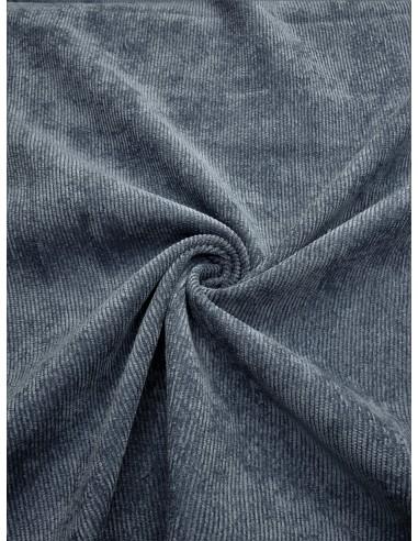 Tissu velours milleraie - Bleu gris