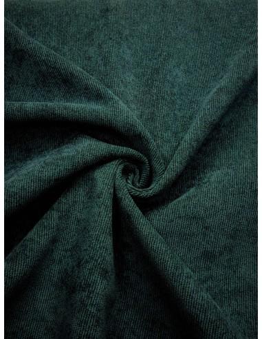 Tissu velours milleraie - Bleu canard
