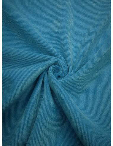 Tissu velours milleraie - Turquoise