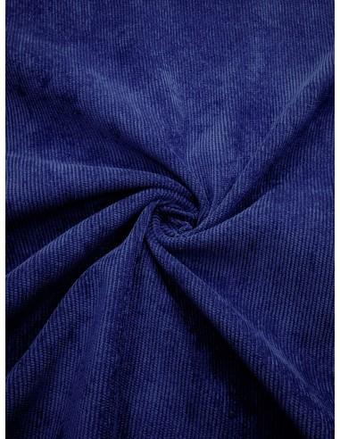 Tissu velours milleraie - Bleu dur