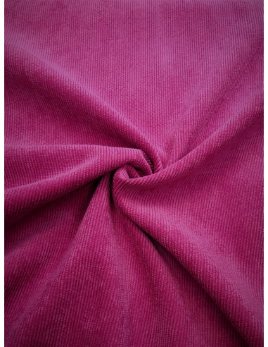 Tissu velours milleraie - Fuchsia