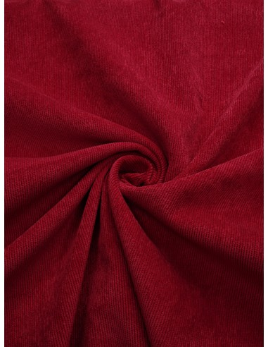 Tissu velours milleraie - Rouge vif