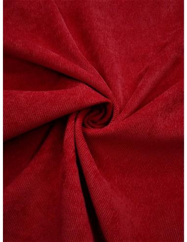 Tissu velours milleraie - Rouge