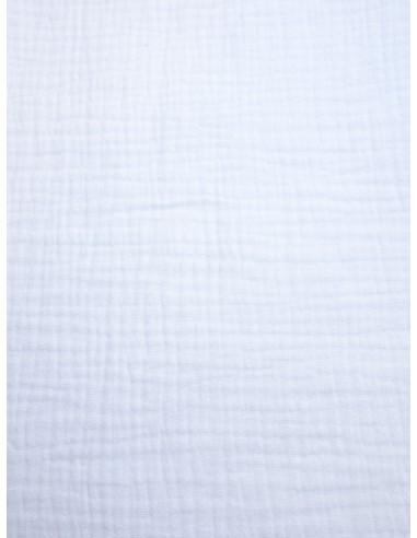 Tissu double gaze - Blanc