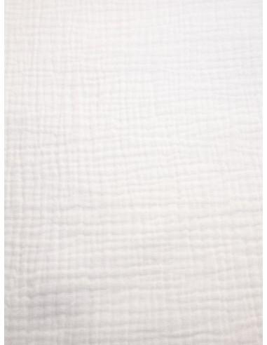 Tissu double gaze - Blanc cassé