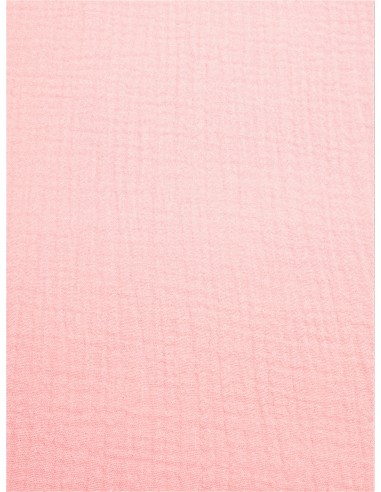 Tissu double gaze - Rose pâle