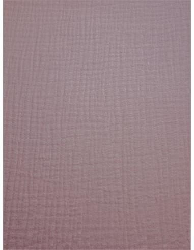 Tissu double gaze - Rose poudré