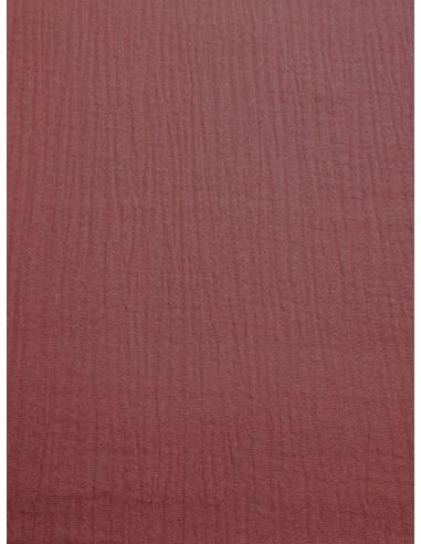 Tissu double gaze - Vieux rose