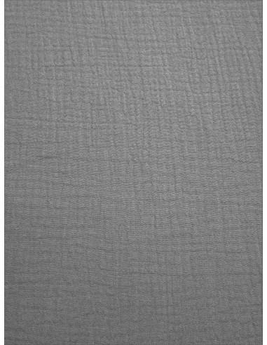 Tissu double gaze - Gris clair