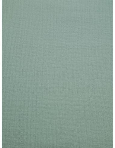 Tissu double gaze - Vert d'eau