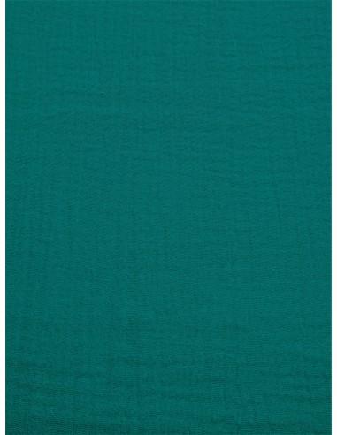Tissu double gaze - Turquoise