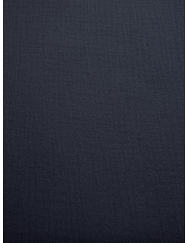 Tissu double gaze - Marine