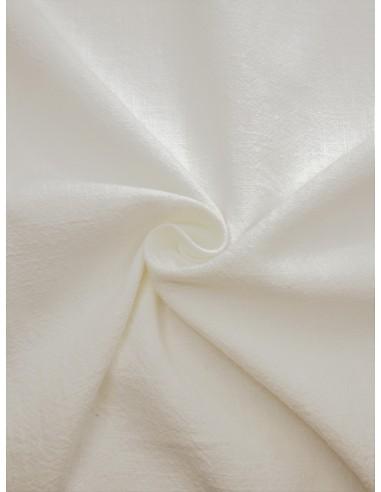 Tissu aspect lin lavé - Blanc cassé