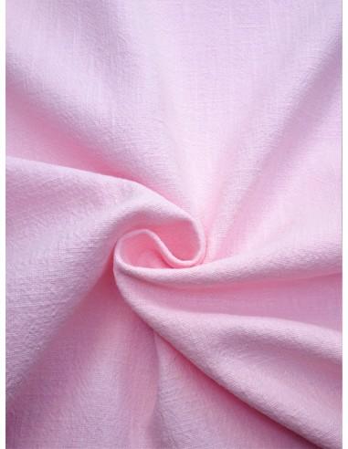 Tissu aspect lin lavé - Rose pâle