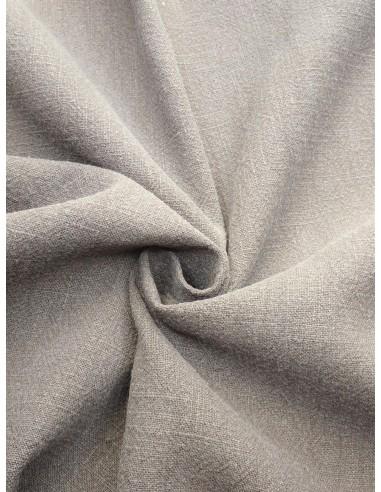 Tissu aspect lin lavé - Gris clair