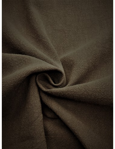 Tissu aspect lin lavé - Taupe