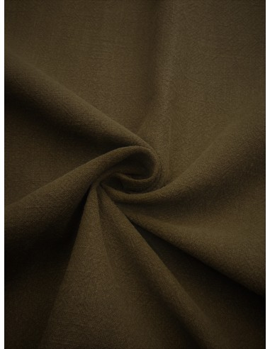 Tissu aspect lin lavé - Kaki