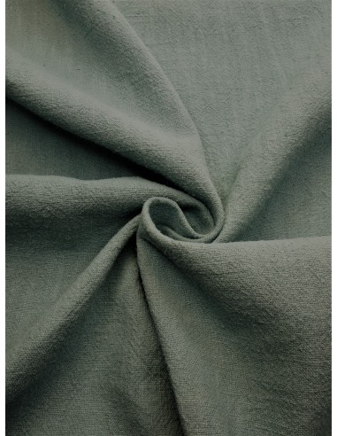 Tissu aspect lin lavé - Vert amande