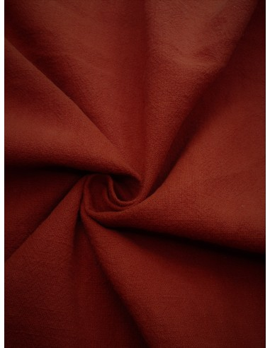 Tissu aspect  lin lavé - Terra cotta