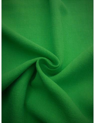 Tissu aspect lin lavé - Vert