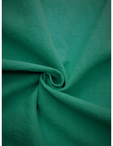 Tissu aspect lin lavé - Turquoise