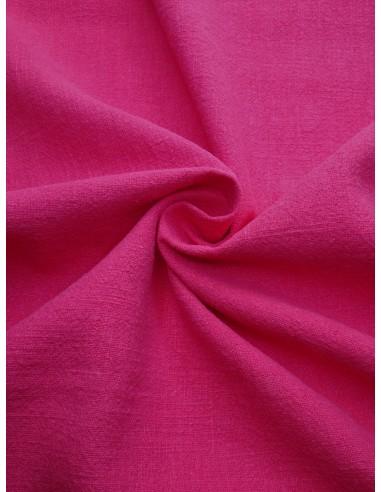 Tissu aspect lin lavé - Fuchsia