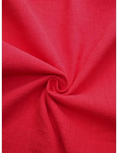 Tissu aspect lin lavé - Rouge